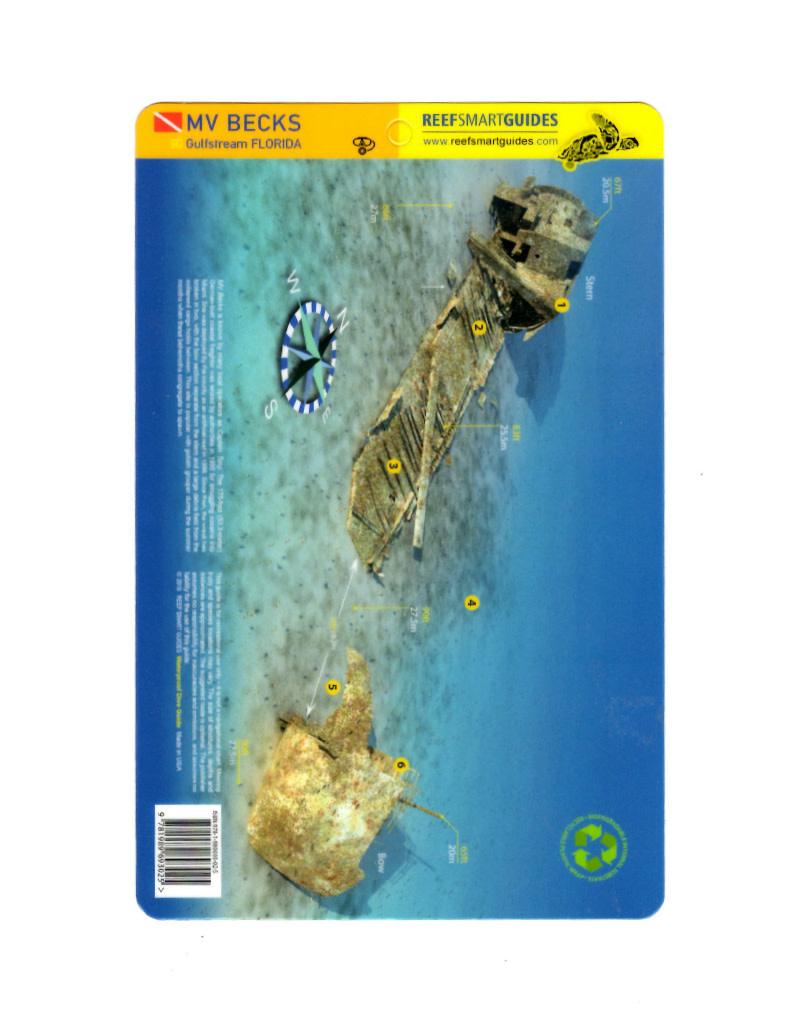 Reef Smart/Mango Media Reef Smart Wreck Map MV Becks