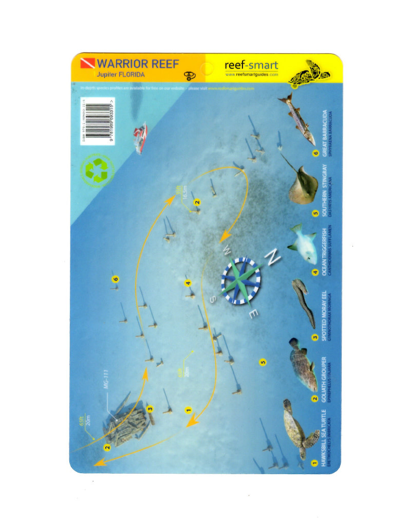 Reef Smart/Mango Media Reef Smart Wreck Map MG-111 and Warrior Reef