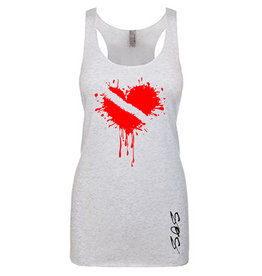 Stoked on Salt SOS Tank Wet Dive Heart