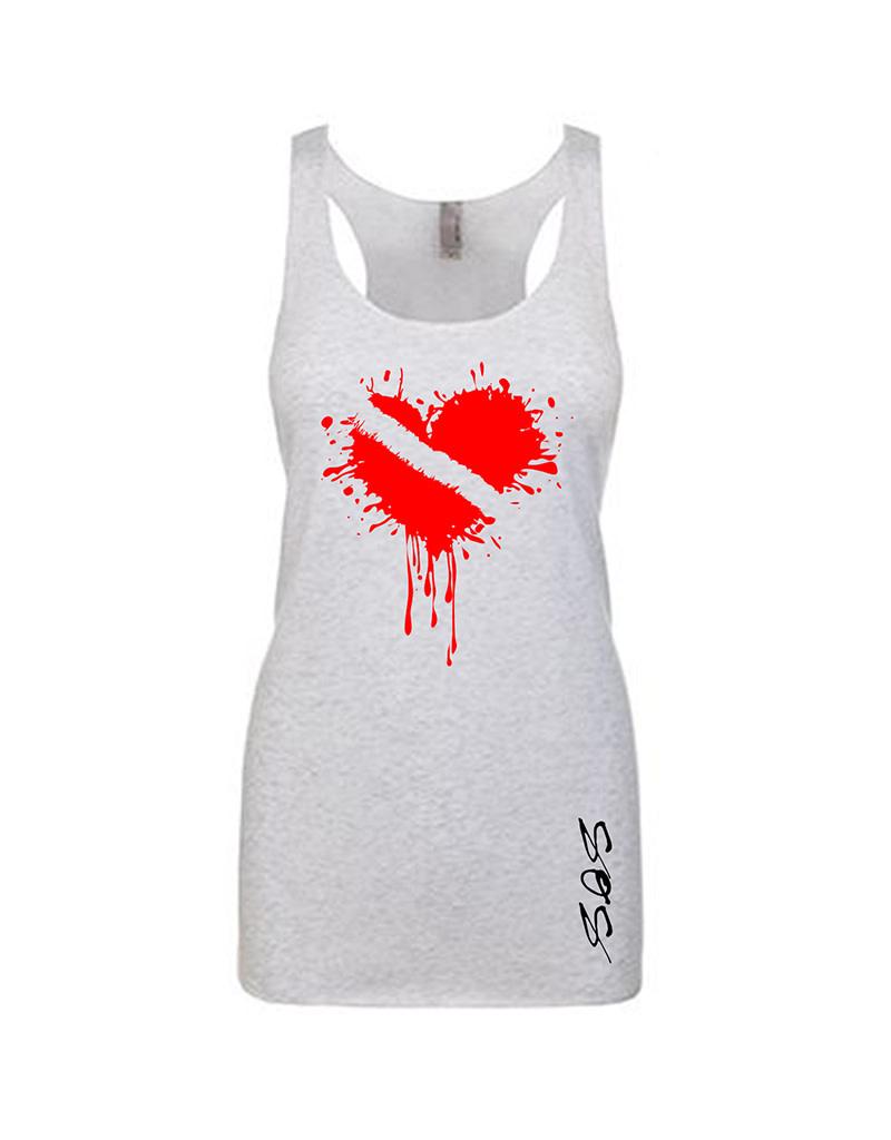 Stoked on Salt SOS Tank Wet Dive Heart
