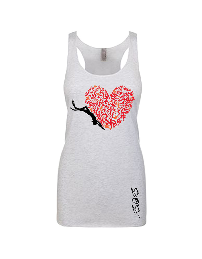 Stoked on Salt SOS Tank Coral Reef Diver