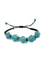 Charming Shark Tropical Accesories Charming Shark Adj Turtle Bracelet Turquoise