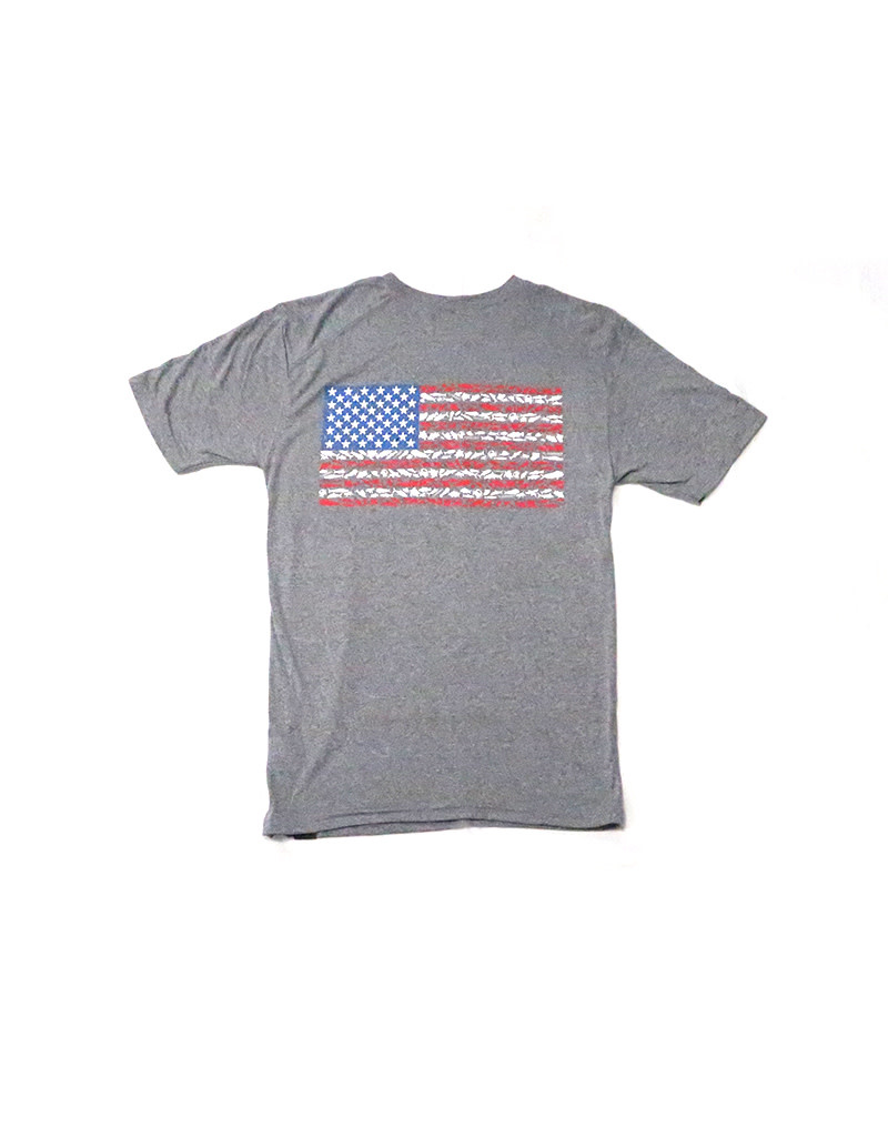 H2Overboard LLC H2O SS Sport Shirt American Flag