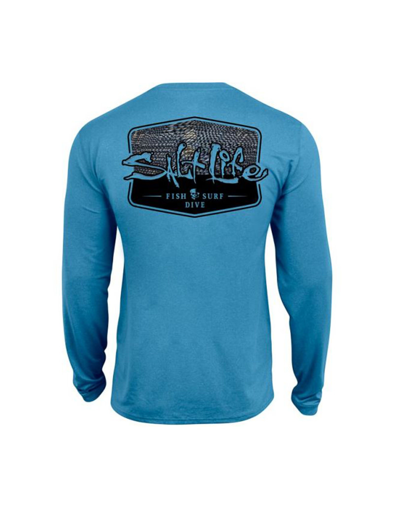 Saltlife LLC SaltLife Mens LS Perf - Metal Scales