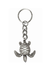 Marine Sports Mfg. Key Chain Pewter Turtle