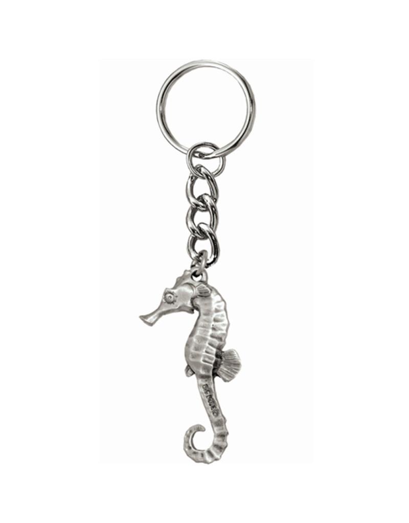 Marine Sports Mfg. Key Chain Pewter Seahorse