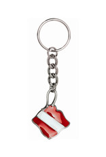 Marine Sports Mfg. Key Chain Pewter Dive Ray