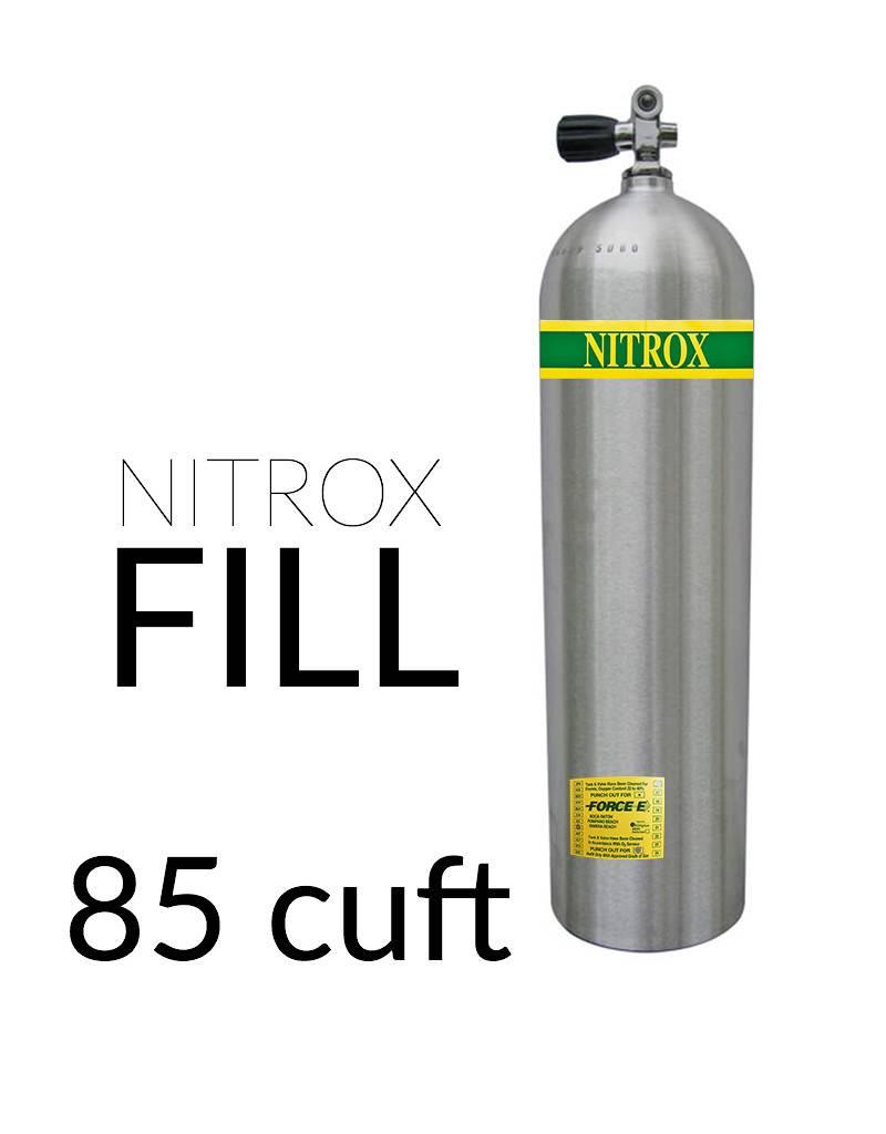 Force-E Air Fill Nitrox Single 85+ cu ft