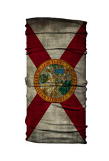 Born of Water Born of Water Neck Gaiter Grungy Florida Flag