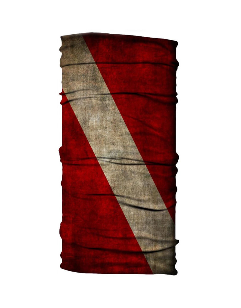 Born of Water Born of Water Neck Gaiter Grungy Diver Flag