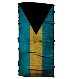 Born of Water Born of Water Neck Gaiter Grungy Bahamas Flag