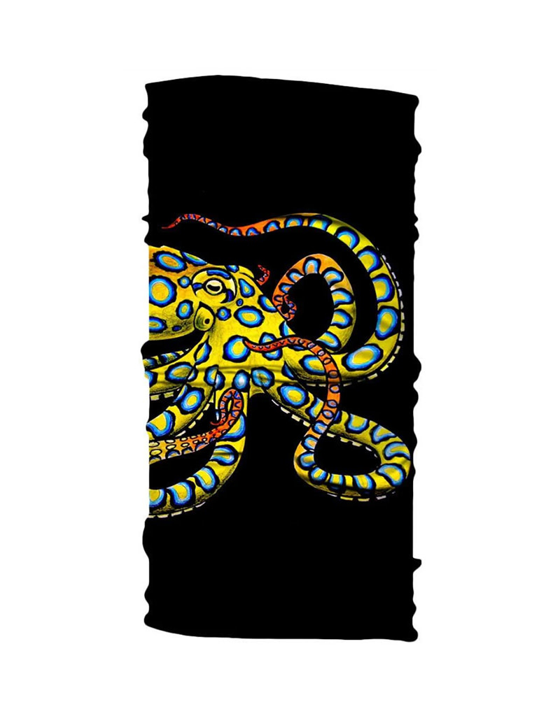 Born of Water Born of Water Neck Gaiter Blue Ring Octopus