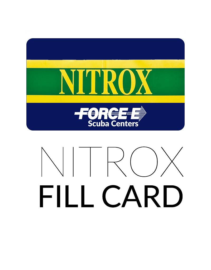 Force-E Scuba Centers Air Fill Card  - Nitrox