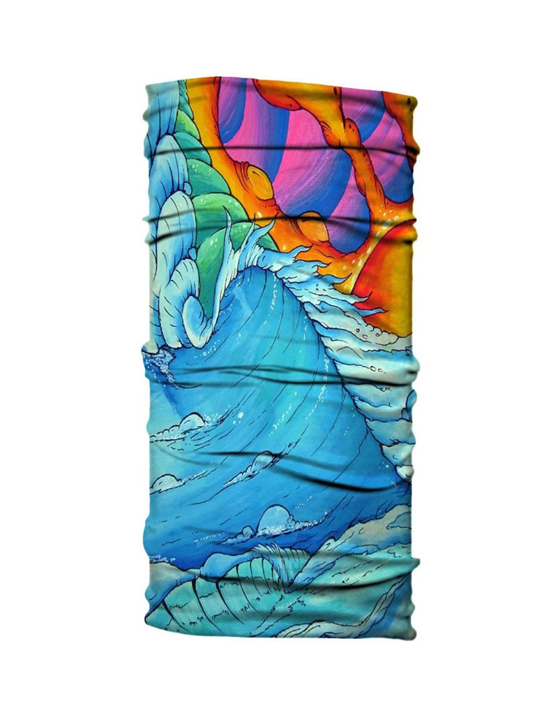 Born of Water Born of Water Neck Gaiter Surfer Wave