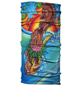 Born of Water Born of Water Neck Gaiter Tiki Surfer