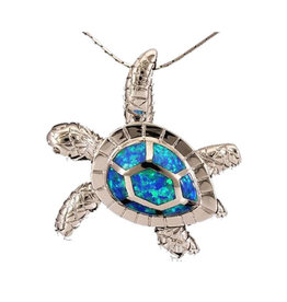 Jessie Jessup Apparel LLC JessieJessup Blue Turtle Pendant