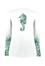 Jessie Jessup Apparel LLC JessieJessup Ladies LS Seaweed Seahorse