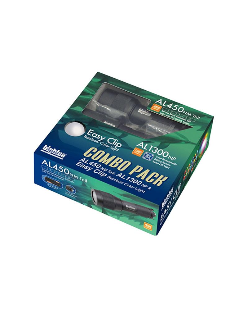 Bigblue Dive Lights BigBlue Combo Pack AL450NM AL1300NP & EZ Clip