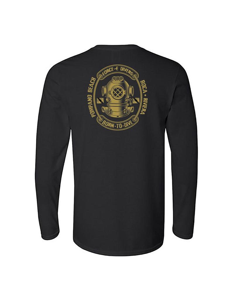 Stoked on Salt SOS  Born2Dive  LS T-Shirt
