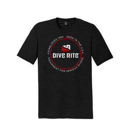 Dive Rite Dive Rite Logo T Shirt White/Red Circle