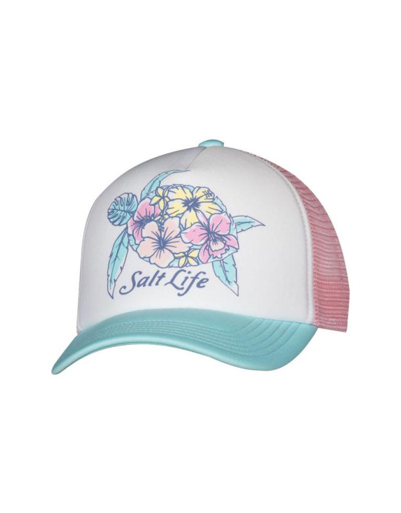 Saltlife LLC Salt Life Turtle Blossom Youth Trucker Hat