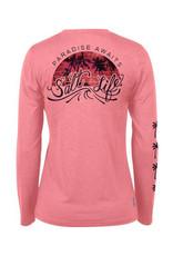 Saltlife LLC SaltLife Palm Storm Badge Long Sleeve Performance Tee