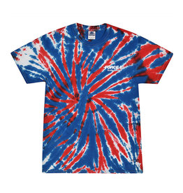 Stoked on Salt SOS Red White Blue Tie Dye T-Shirt