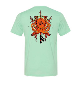 Born of Water Born of Water Speared Tako Octopus Mint T-Shirt