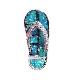 Jessie Jessup Apparel LLC JessieJessup Sandal Crystal Opal Necklace