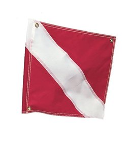 "Marine Sports Mfg. Marine Sports Diver Down Flag, 20"" x 24"" w/Stiffener"