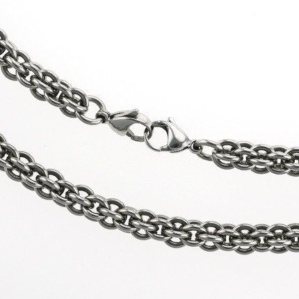 Necklace Steel Double Clasp 8.0mm