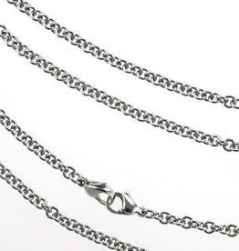 Necklace Steel Double Clasp 3.5mm