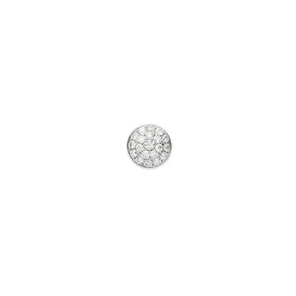 6mm Pave Diamond Clyinder