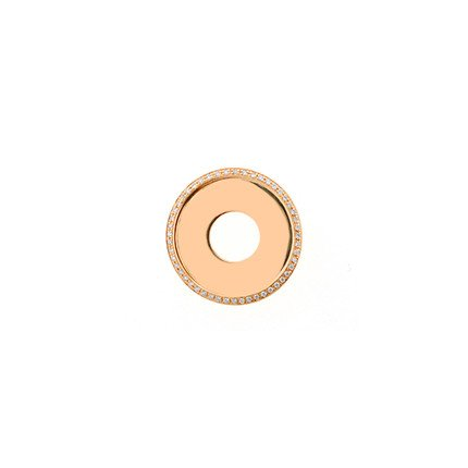 24mm Rose Gold Diamond Disc