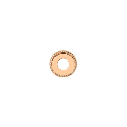 17mm Rose Gold Diamond Disc