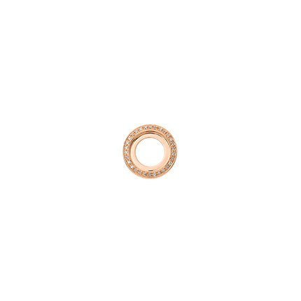 14mm Rose Gold Diamond Disc