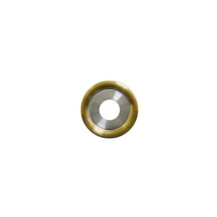 20mm Rounded Gold Disc