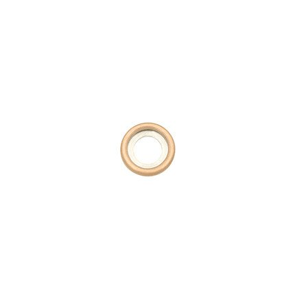 14mm Rounded Rose Gold Disc