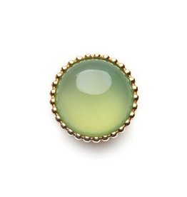 SPHERIC CIRCLES-chrysoprase-Rose Gold 14mm