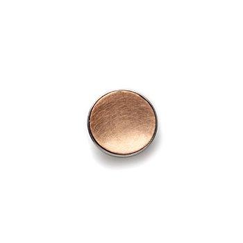 GOLD BUTTON-rose gold concave- matte-14mm