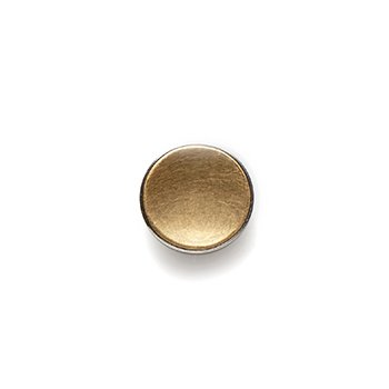GOLD BUTTON-yellow gold concave matte-14mm