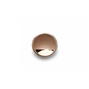 GOLD BUTTON-rose gold concave polished-14mm