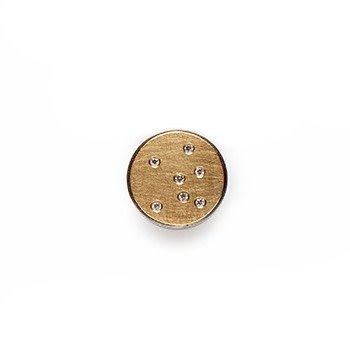 STELLA-yellow gold with diamonds-14mm