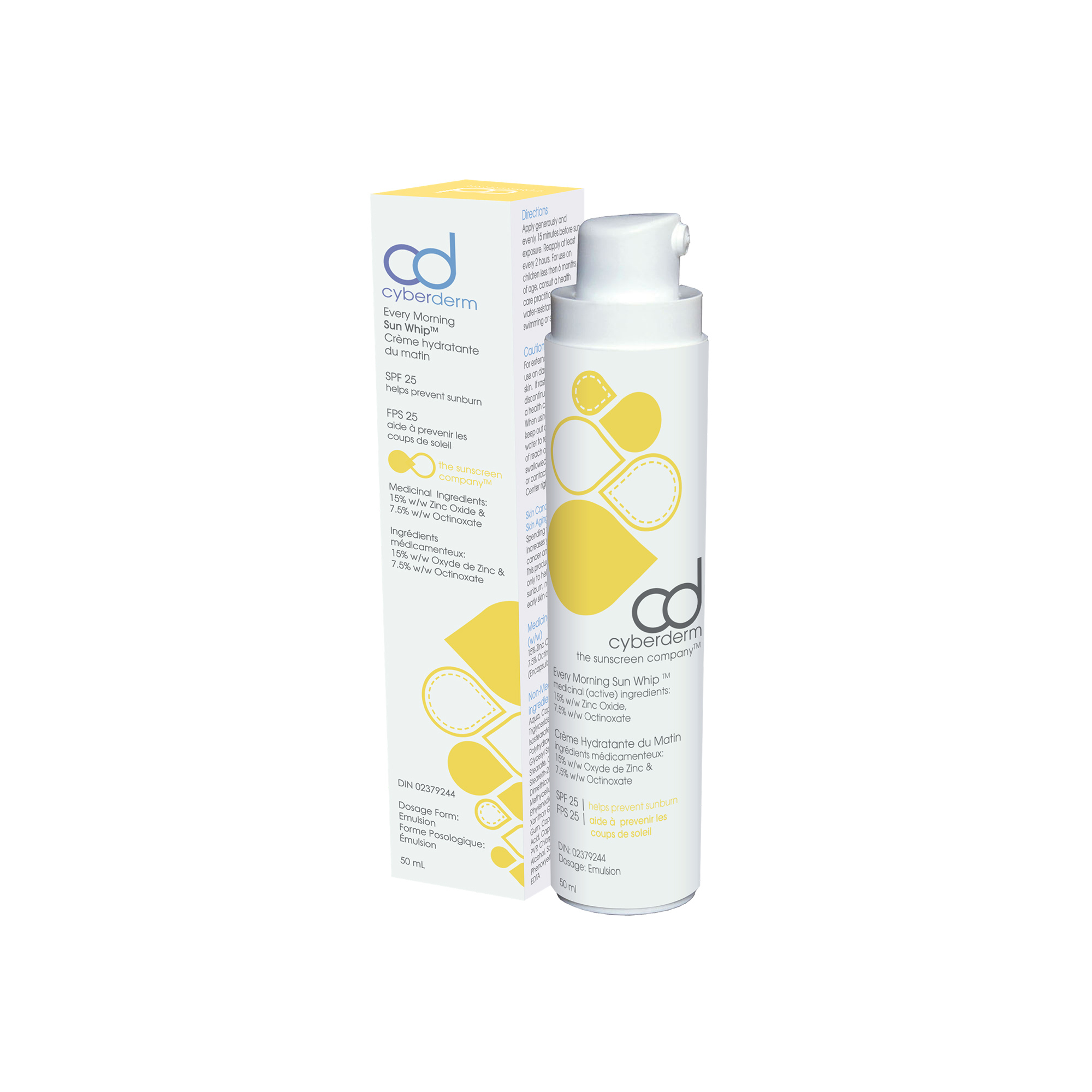 Cyberderm Every Morning Sun Whip SPF 25 (15% Zinc Oxide) - 50 ml