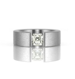 'the one' tension-set (square) . ring