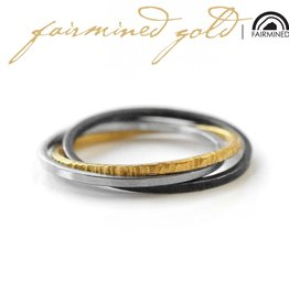 FAIRMINED 22k gold 'interconnected' . ring