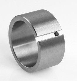 black diamond tension-set . ring