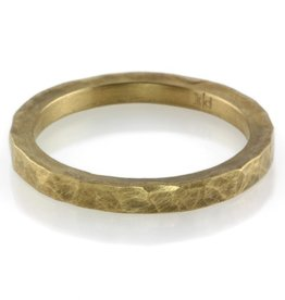 faceted 22k gold 'the one' band