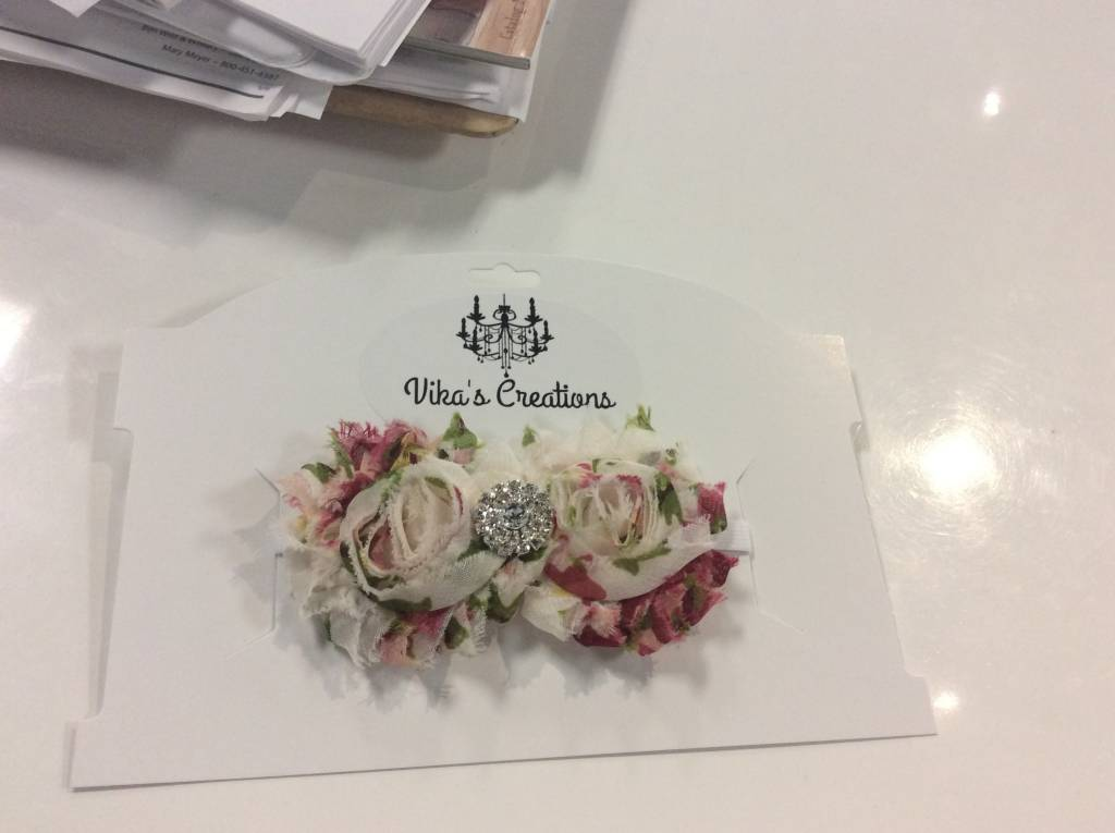Headband floral double rose
