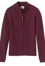 Lands End LE Girls Zip Front Drifter Sweater